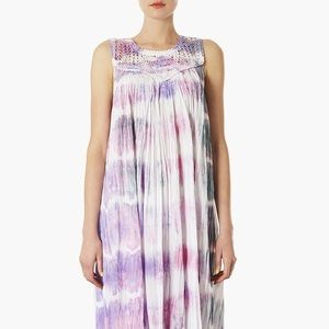 Topshop Purple Tie Dye Dress